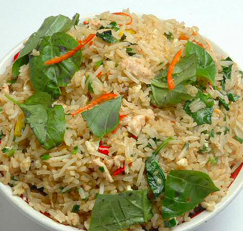 Thai Basil fried rice (Khao Pad Kaprao)